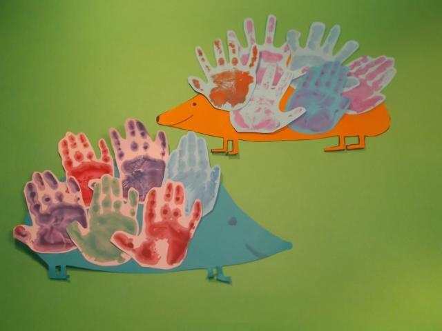 Igel Handabdruck Basteln Einfach Gestalten Handabdrücke