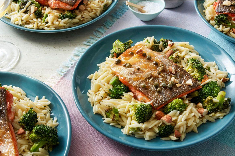 Blue apron broccoli - Salmon Piccata With Orzo Broccoli