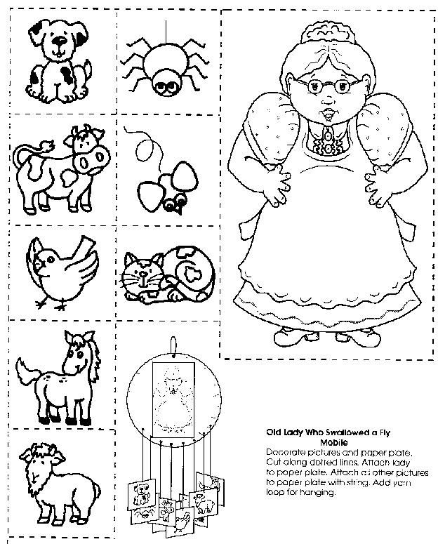 Old Lady Who Swallowed... Matching & Sequencing Printables ...