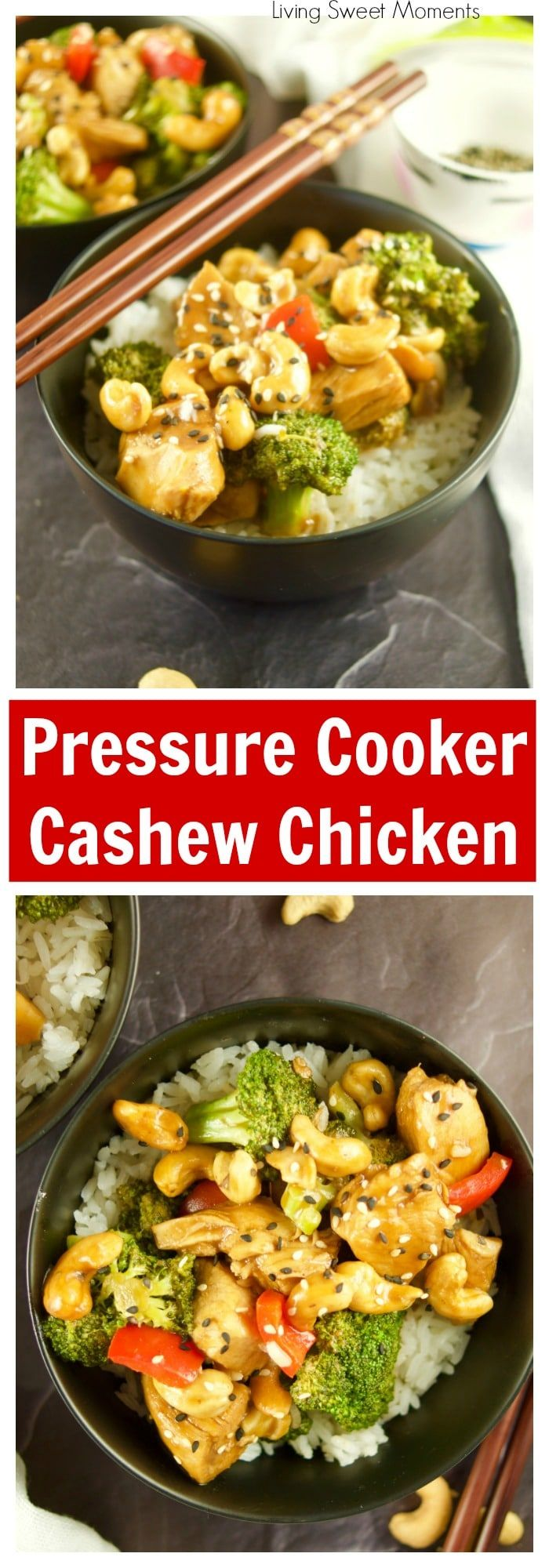 This Quick And Easy Pressure Cooker Cashew Chicken Recipe Is Ready In 20 Minutes Or Less And Chicken Recipes Cashew Chicken Recipe Easy Chicken Dinner Recipes