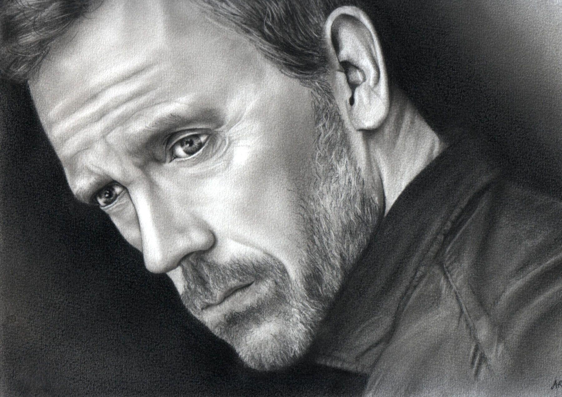 Dessin la main peinture dessin portrait crayon drawing - Main dessin crayon ...
