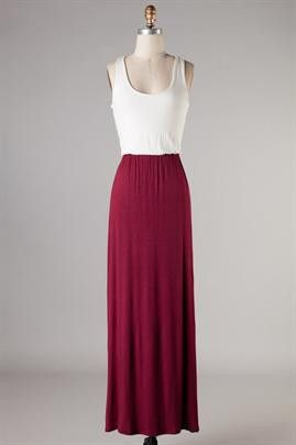 bb43f54a11de Game Day Maroon and Ivory Maxi Dress – Stella B. Clothing