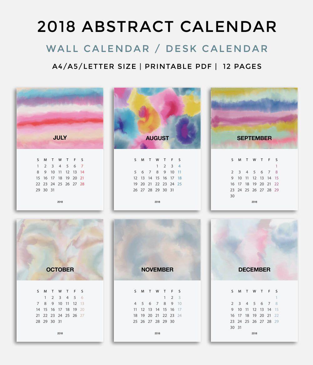 Calendar Printable  Calendar  Desk Calendar Printable