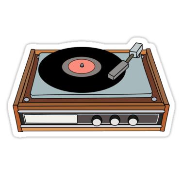 Classic Vinyl Record Player Sticker By Quencch En 2021 Pegatinas Bonitas Pegatinas Wallpaper Fotos Divertidas De Escuela