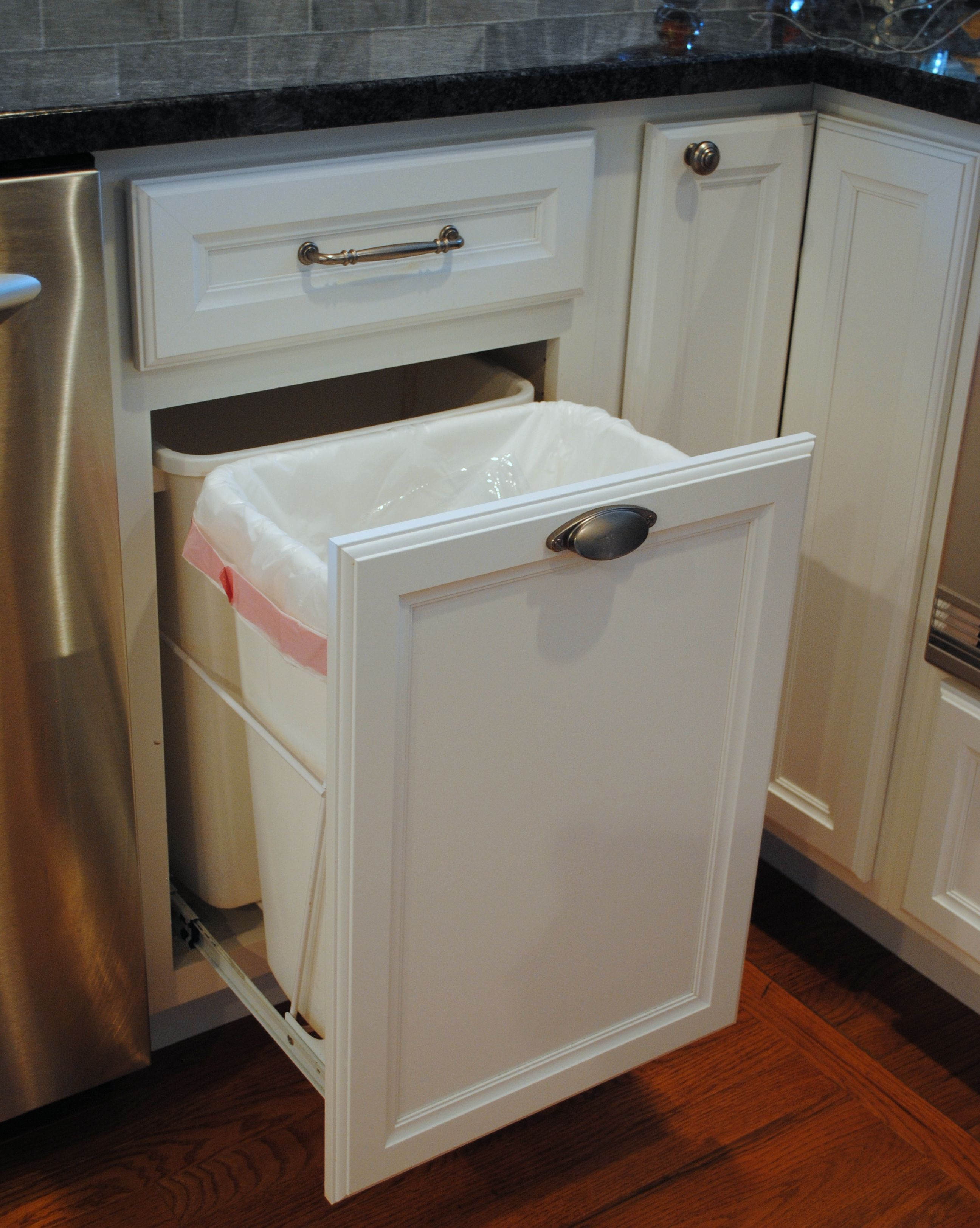 Image Result For Kitchen Cabinets To Hide Trash And Recyclables