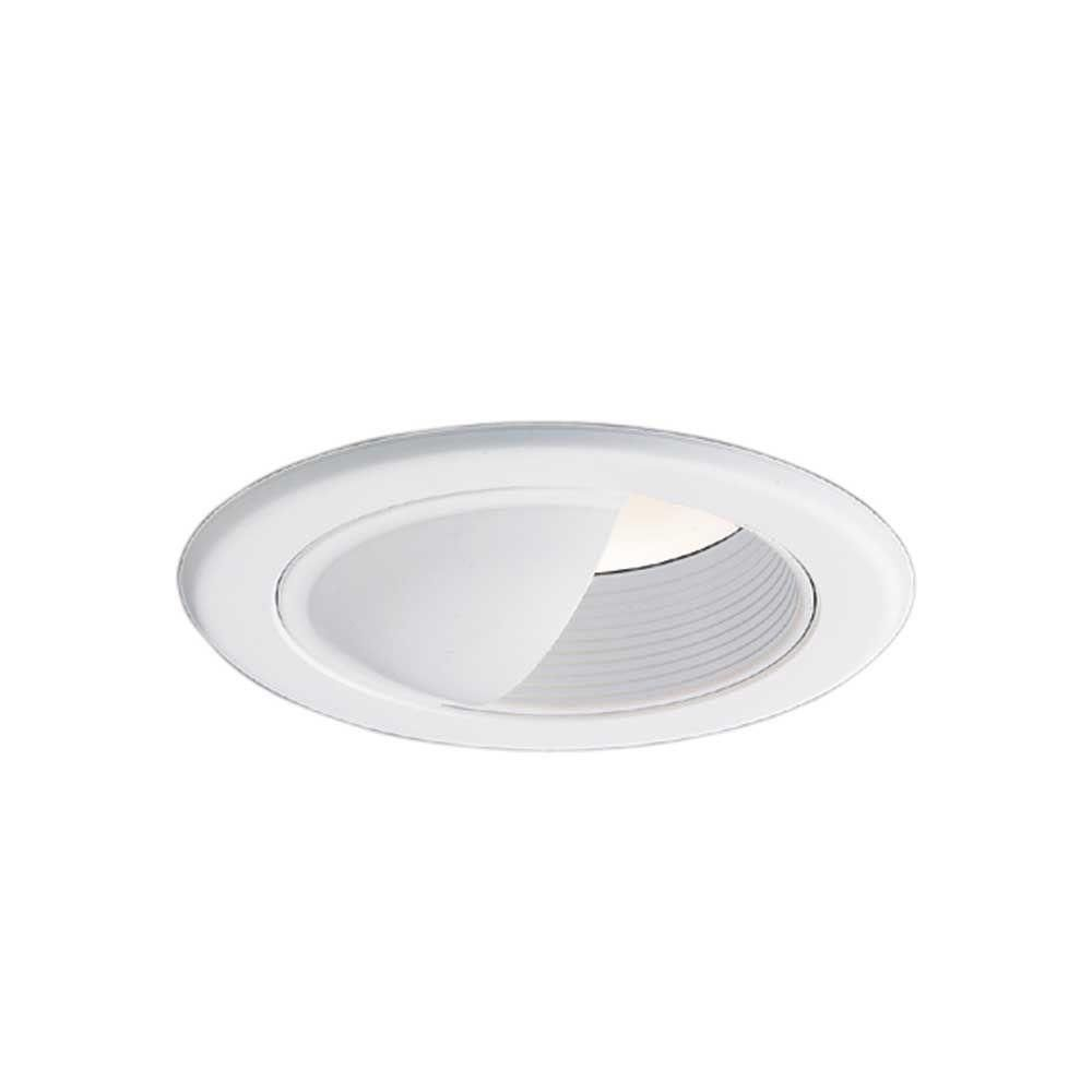 Halo 5 In White Recessed Ceiling Light Wall Wash Baffle Trim