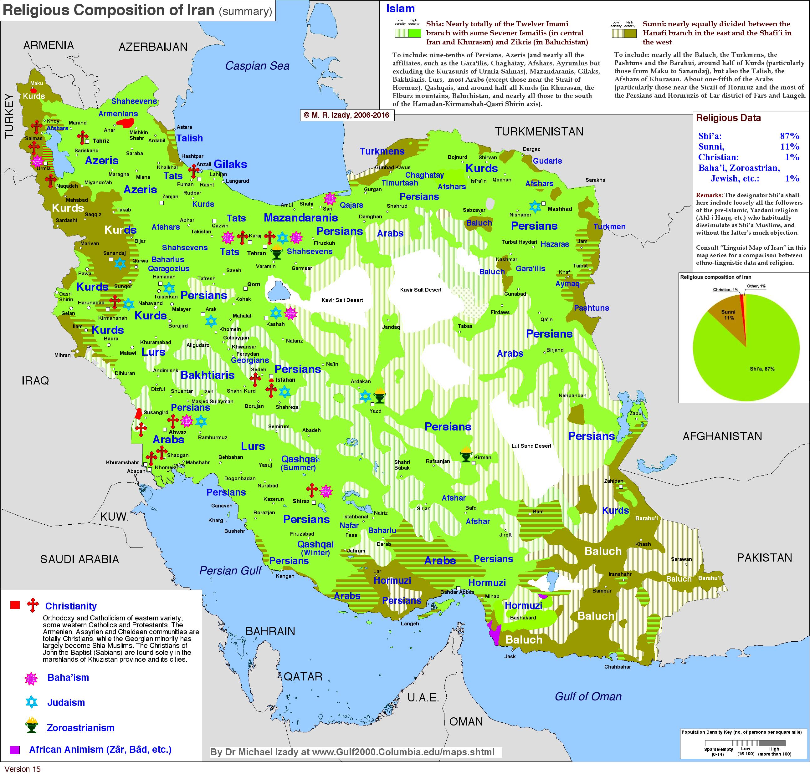 Religious position of Iran 2000 MAPS