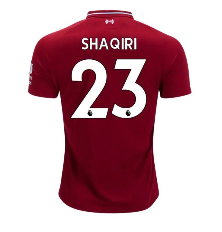 Xherdan Shaqiri 23 Liverpool 2018 2019 Home Jersey By New Balance White New Free Shipping With Images Liverpool Home Liverpool Liverpool Team