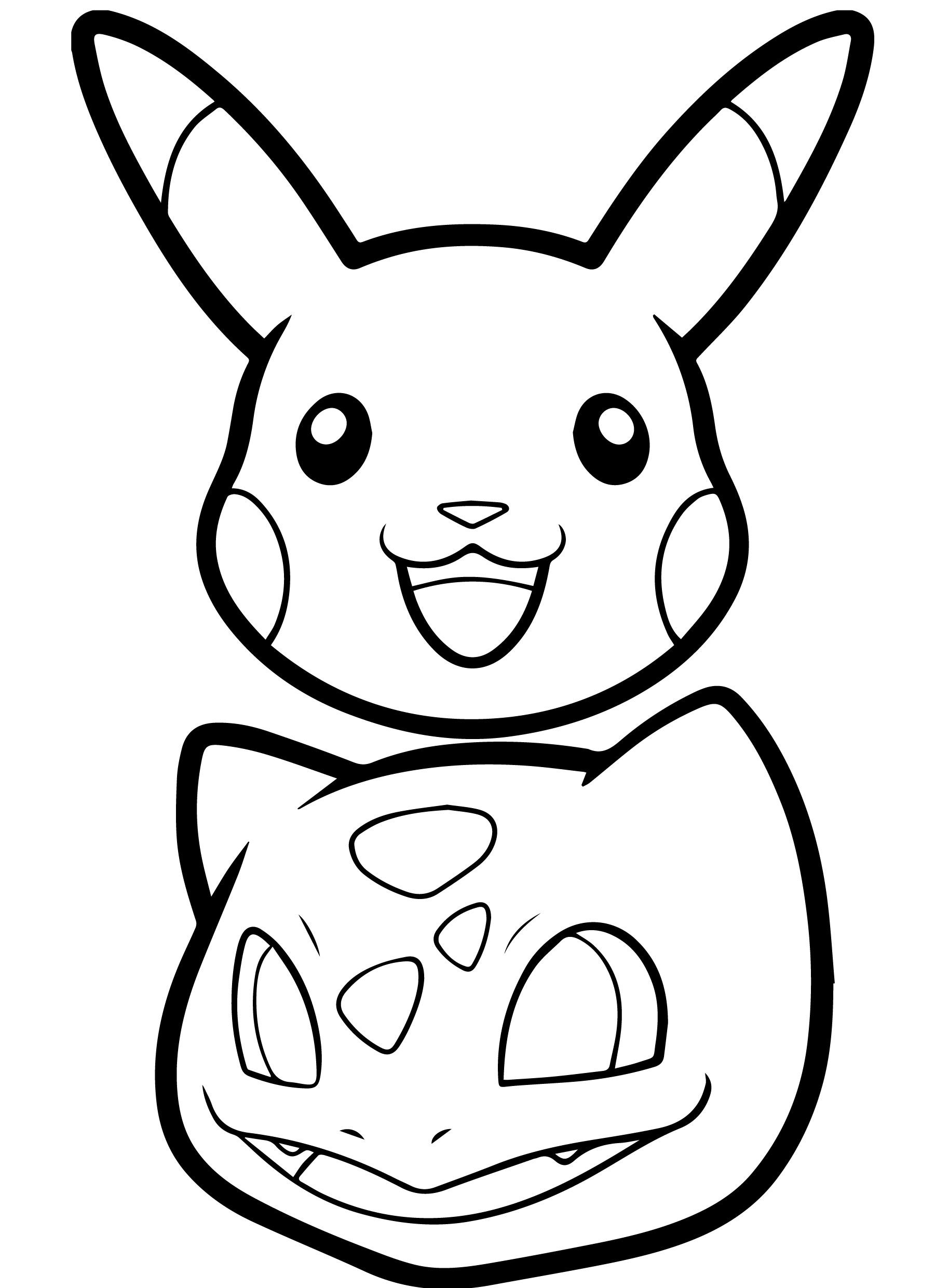 Pikachu Coloring Pages Head Pikachu, Coloriage