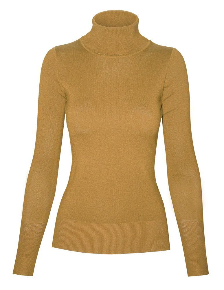 Cielo Knit Turtle Neck Pull-Over Mustard SW770