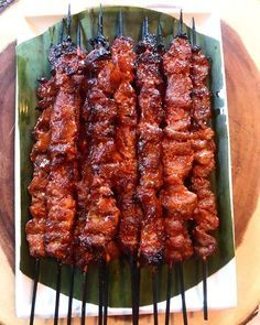 Pork Inasal (Filipino Pork Barbecue on a Stick) #grilledporksteaks