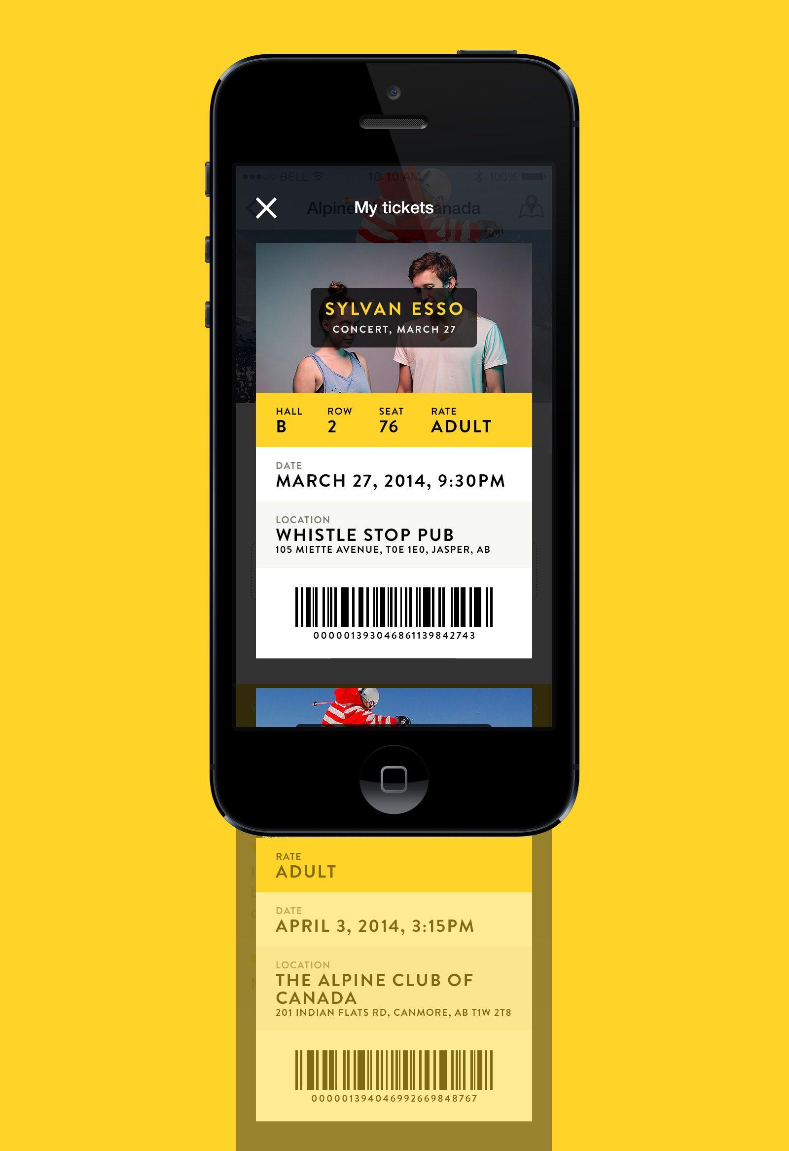 Tourism App Tickets listing UI Pinterest Tourism