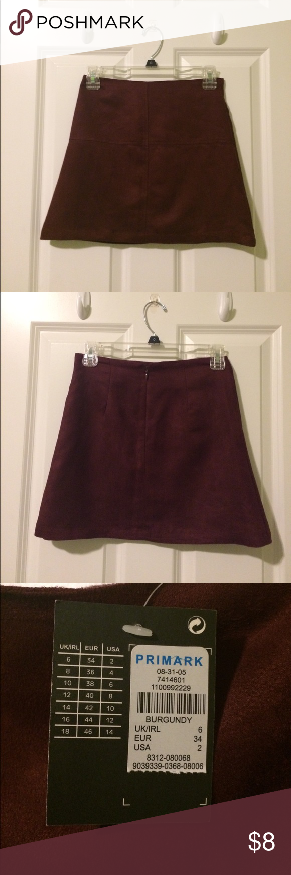 acc461c469 Primark maroon Faux suede mini skirt Tried it on and left it in the closet.