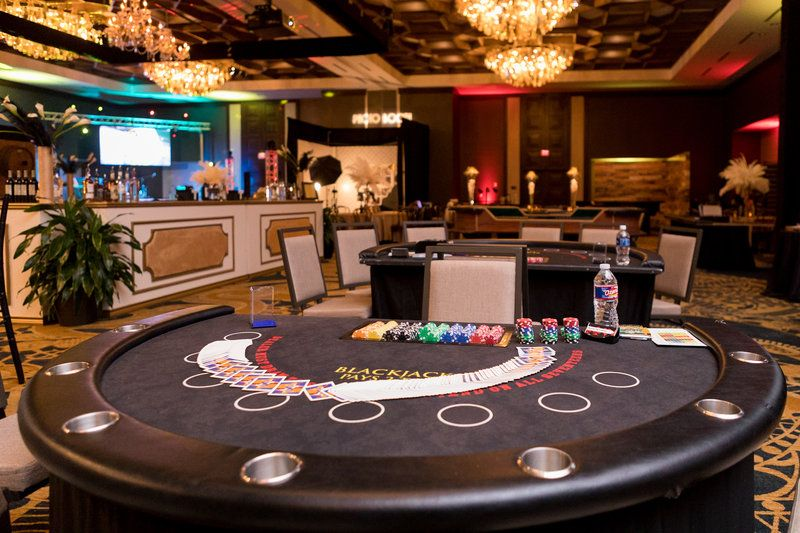 Customized bar casino games chairs centerpieces