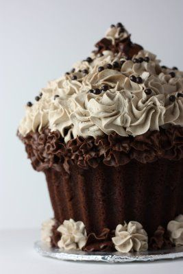 Frosted, chocolate style #giantcupcakecakes
