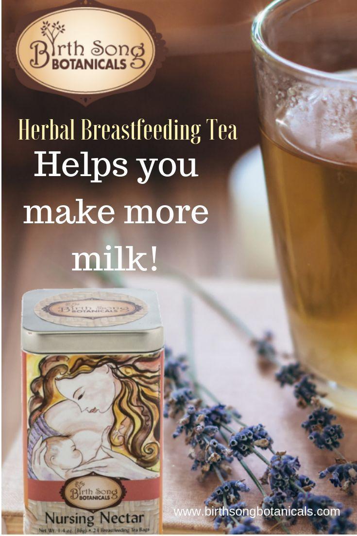Nursing Nectar Organic Herbal Breastfeeding Tea Tin 24 ct