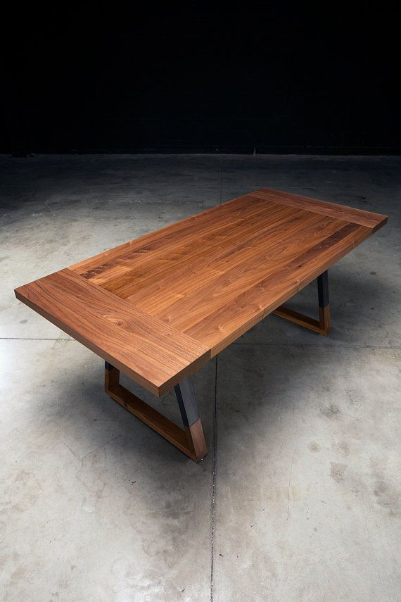Solid Walnut Dining Table Griswold Dining Table Industrial