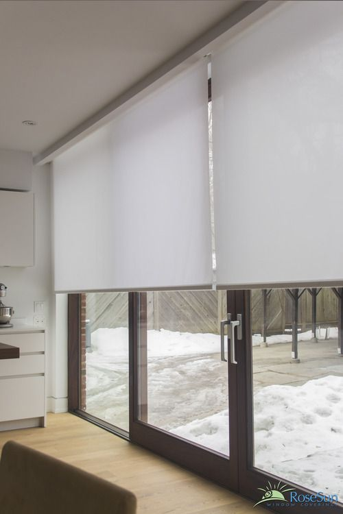 Electric Blinds Can Have Large Glass Areas Covered Window