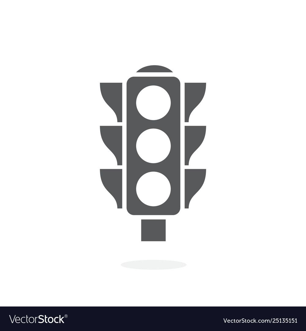 Traffic Light Icon On White Background Royalty Free Vector Sponsored Icon White Traffic Light Ad Light Icon Vector Free Web Icon Vector