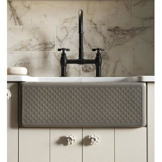 Kohler Alcott 25 X 22 Farmhouse Kitchen Sink With Evenweave Design