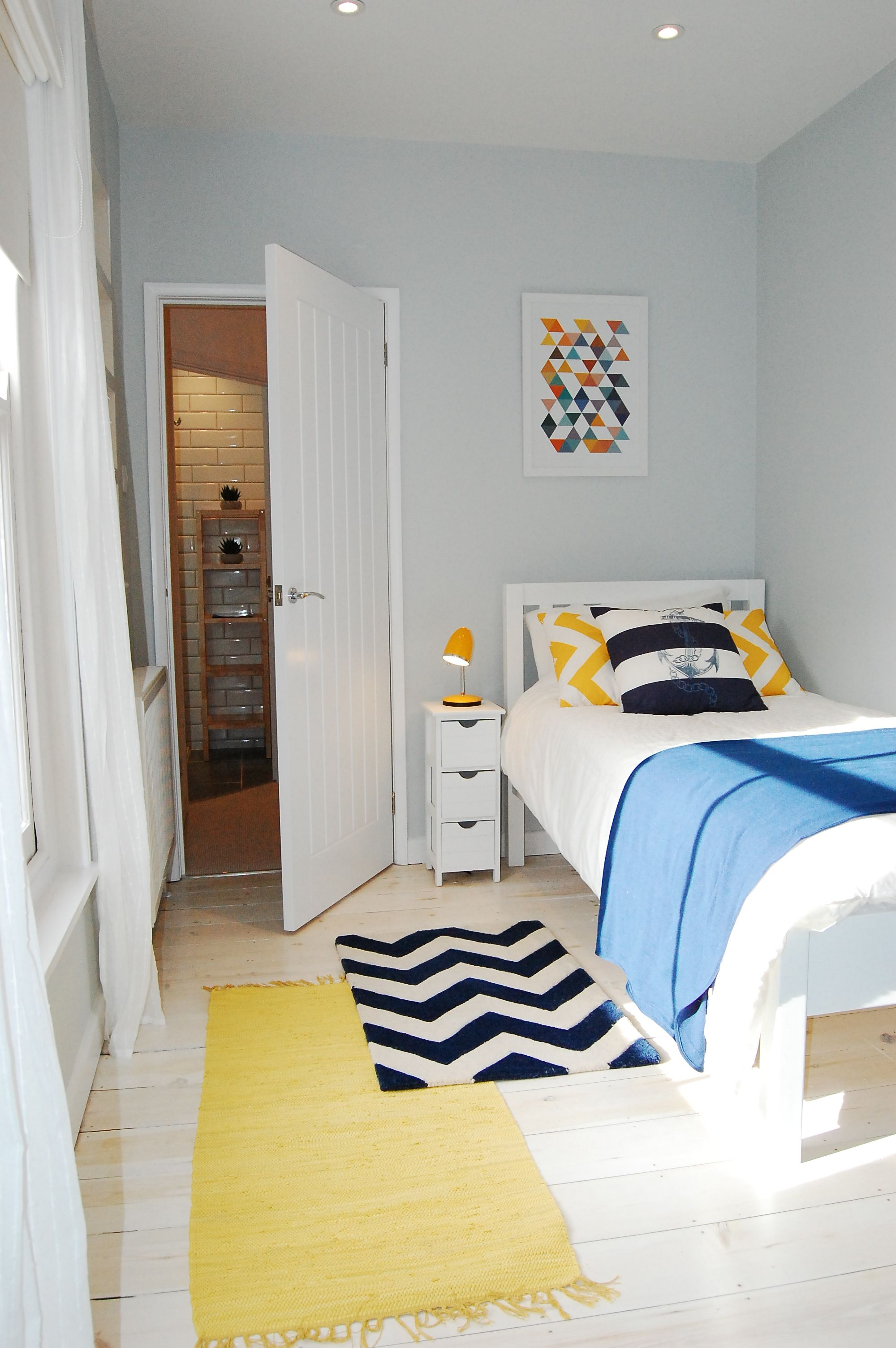 Blue And Yellow Agers Bedroom Scandinavian Ager Accents