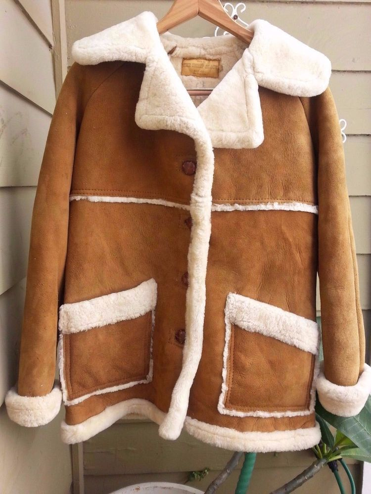 VTG WOMENS SHEEPSKIN LEATHER SHEARLING FUR WESTERN COAT SIZE 10 THE SHEEP SHACK in Clothing, Shoes & Accessories, Women's Clothing, Coats & Jackets | eBay