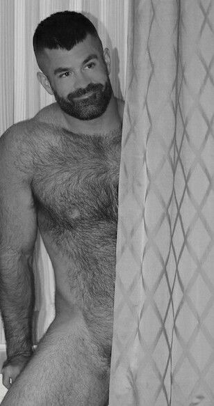 men Black hairy bear