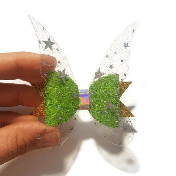 Rainbow fairy bow Fairy hair bow Fairy headband Glitter Fairy Flower Fairy bow Baby bow Fairy Hair Clip Fairy gifts for girls
