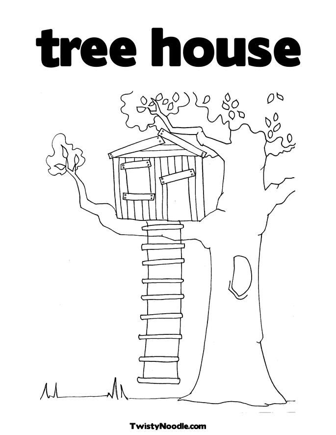 Free Coloring Pages Tree Limb Twistynoodle Comtree House Coloring Page Magic Tree House Books Tree House Drawing Magic Treehouse