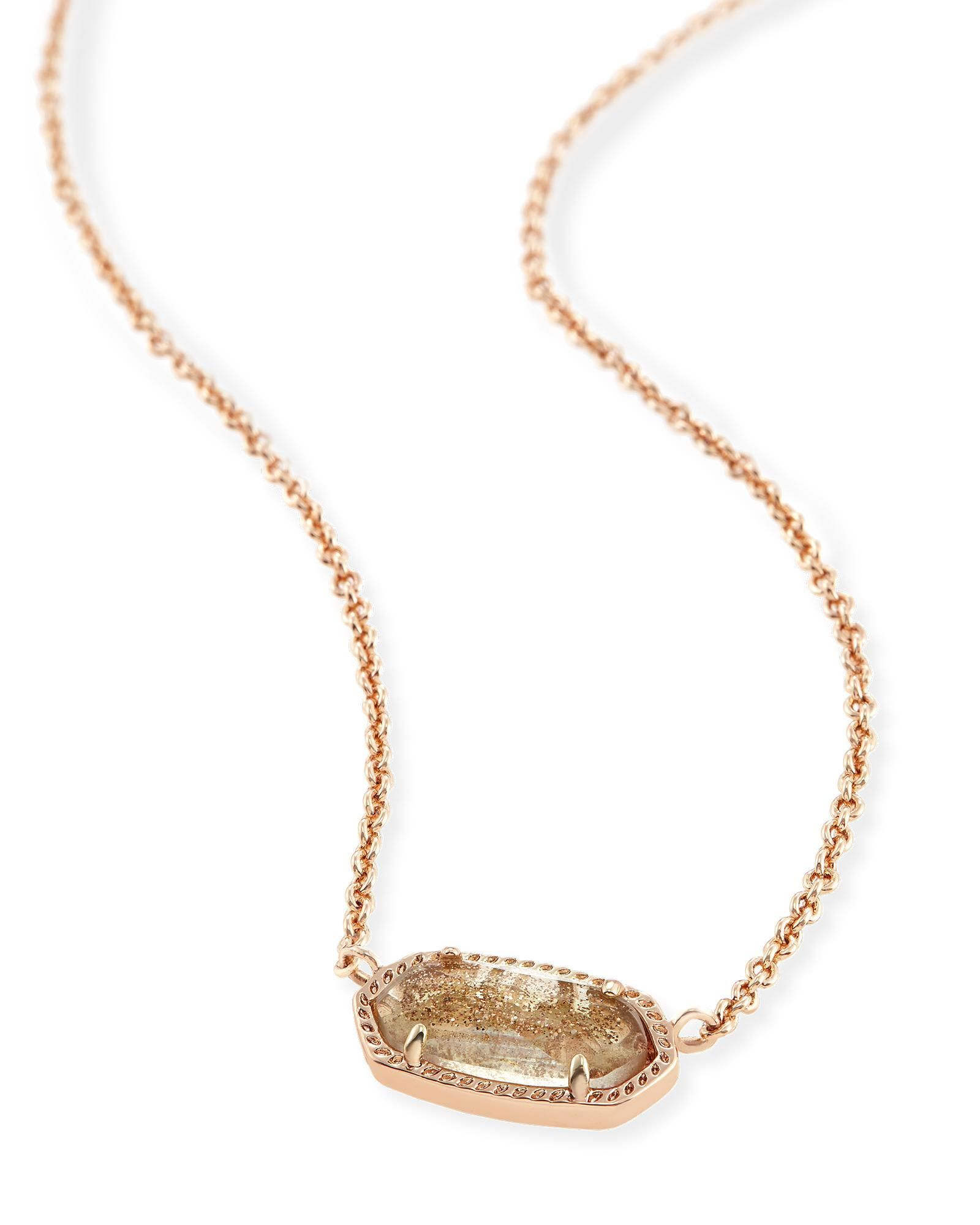 Elisa pendant necklace in gold dusted glass kendra scott