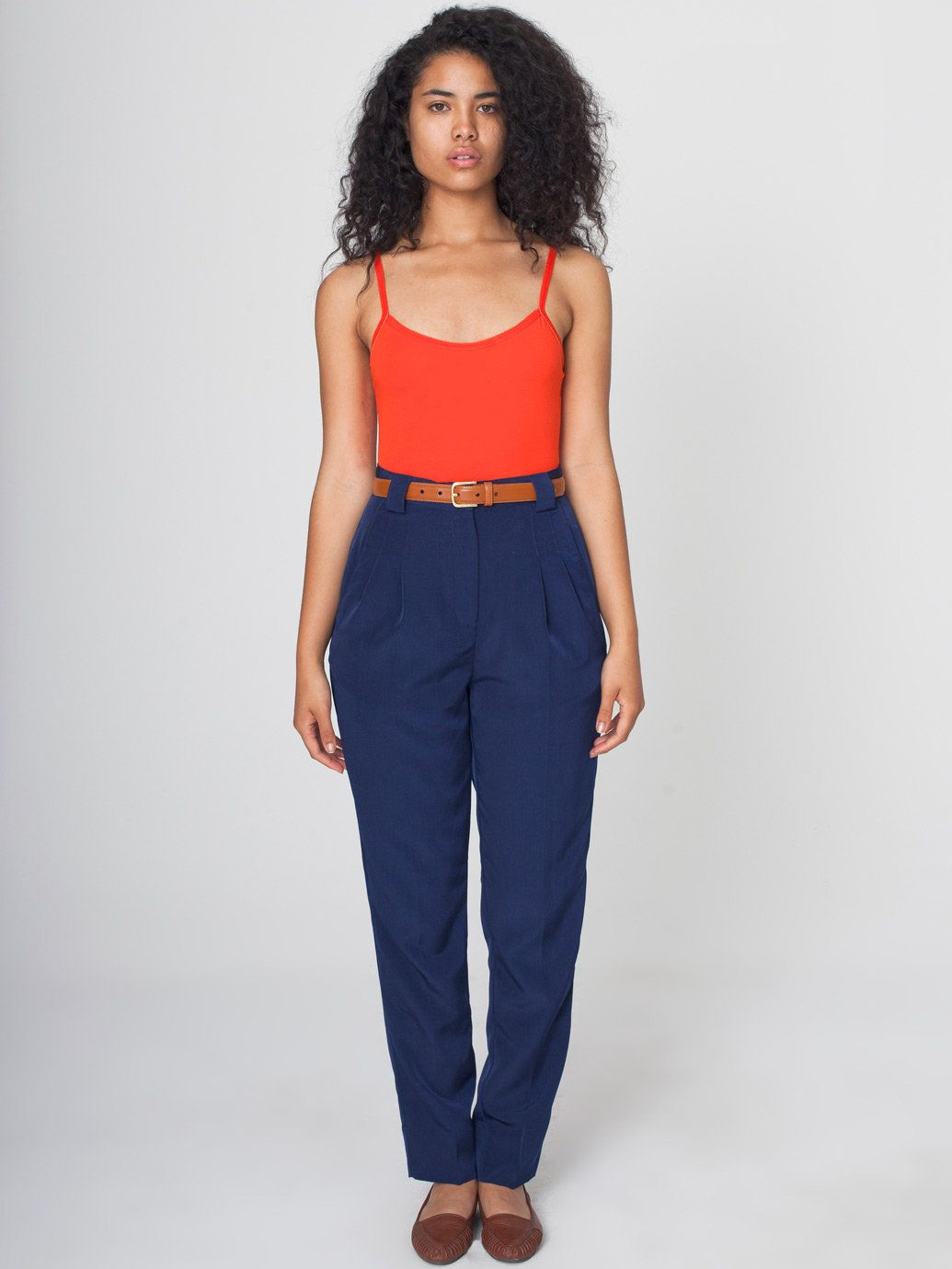 Micro-Poly High-Waist Pleated Pant | Fashion | Pinterest | Pleated ...