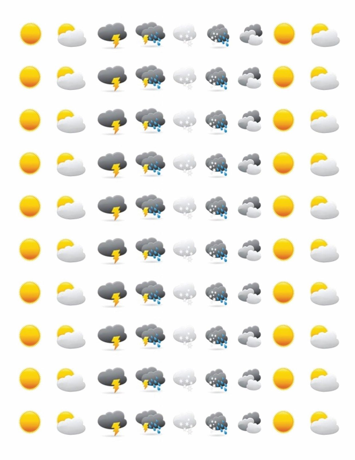 Free Printable Weather Stickers