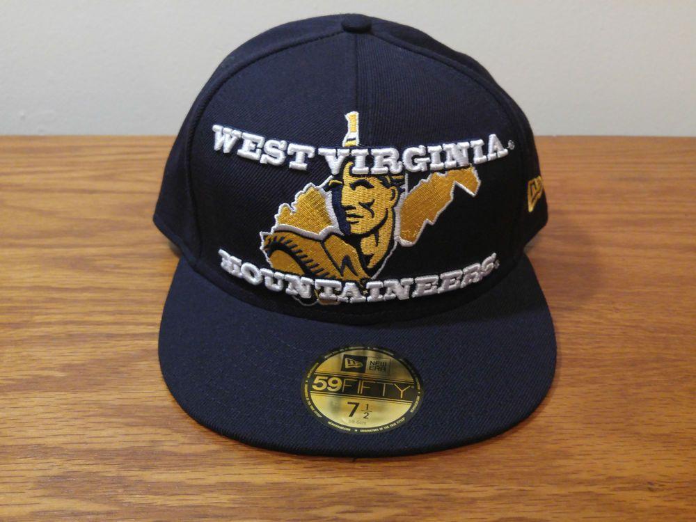 NEW ERA 59Fifty West Virginia MOUNTAINEERS Football Hat Cap Fitted WVU Logo  SALE  NewEra  WestVirginiaMountaineers 223f612b5