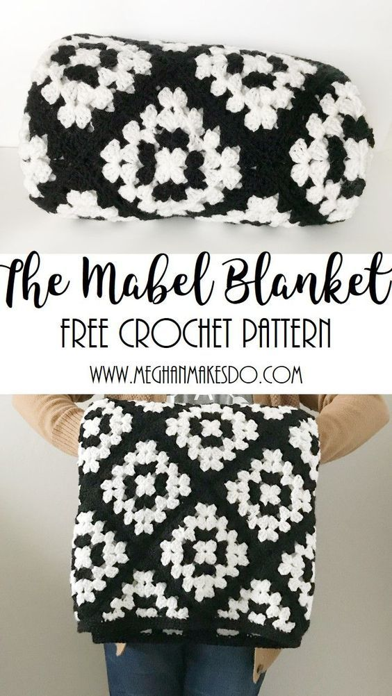 Mar 9 The Mabel Blanket-Free Crochet Pattern en 2018 | Patrón Libre ...