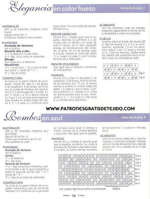 madejas+y+agujas+008a.jpg (494×655)   tejidos   Pinterest   Para ...