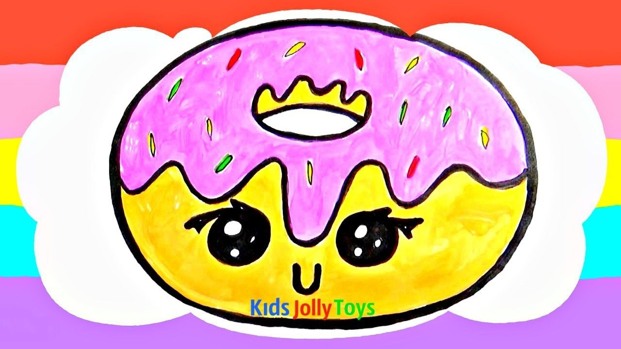 Cute Donut Toy Drawing For Fun Kids Jolly Toys Cute Donuts Drawing Tutorial Easy Jolly