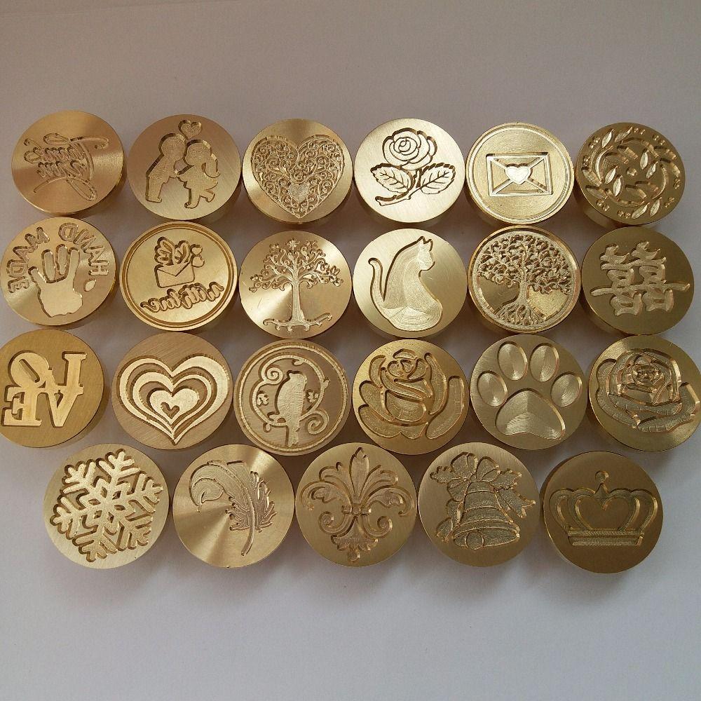 inviti 1# confezione regalo 1# Wax Seal Stamp manico in legno rimovibile Vintage Sealing Stamp per San Valentino abbellire buste Asiproper timbro per sigilli