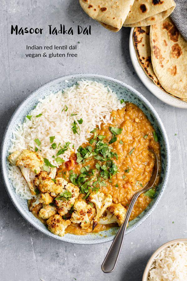 Masoor Dal Tadka Indian Red Lentil Dal Recipe Indian Lentil Soup Indian Food Recipes Vegetarian Lentil Recipes