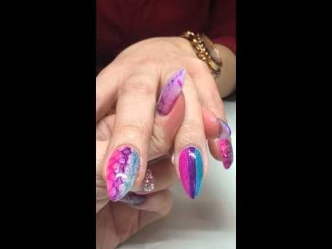 Sharpie Marker Honey Comb Nail Art Effect Youtube Nail Artvideo