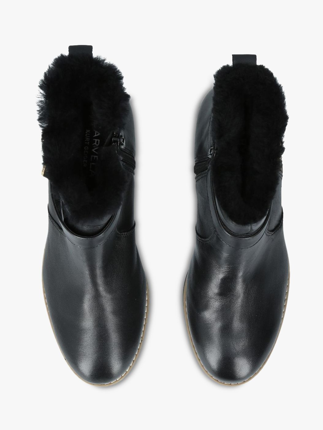 Carvela Scout Buckle Ankle Boots, Black