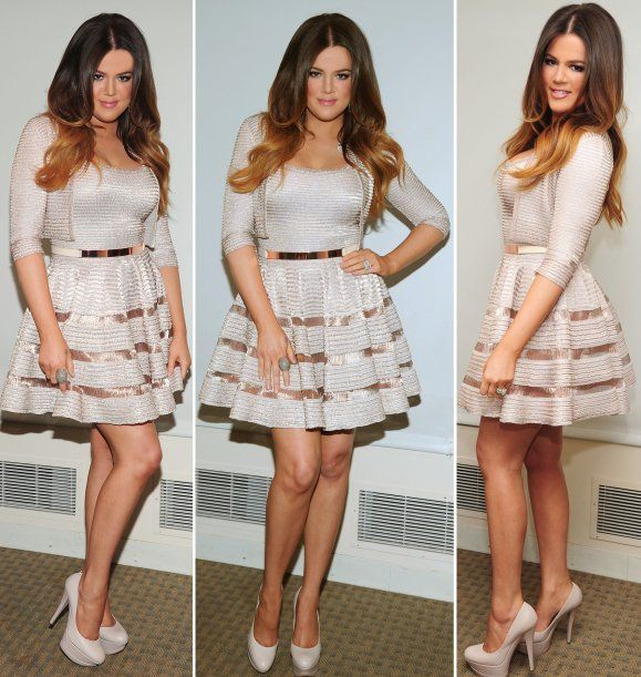 Khloe Kardashian Wedding Dress: Love This Outfit. Metallic Belt