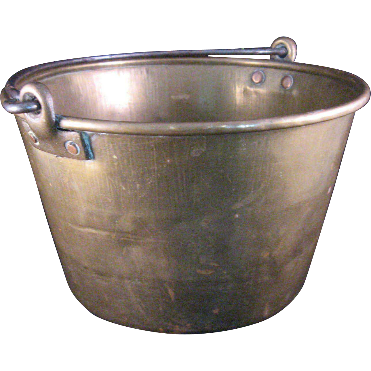 Hammered Brass Bucket Pail With Iron Handle And Copper Rivets 1 Gallon Iron Handles Copper Rivets Bucket