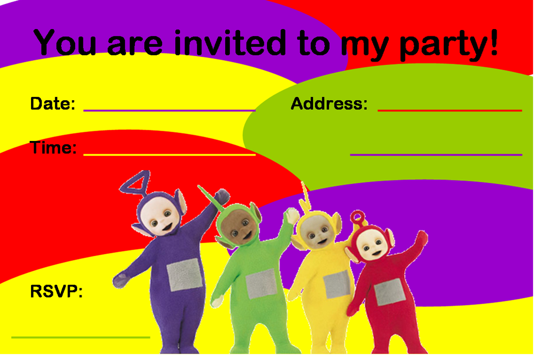 free teletubbies invitations creative printables teletubbies