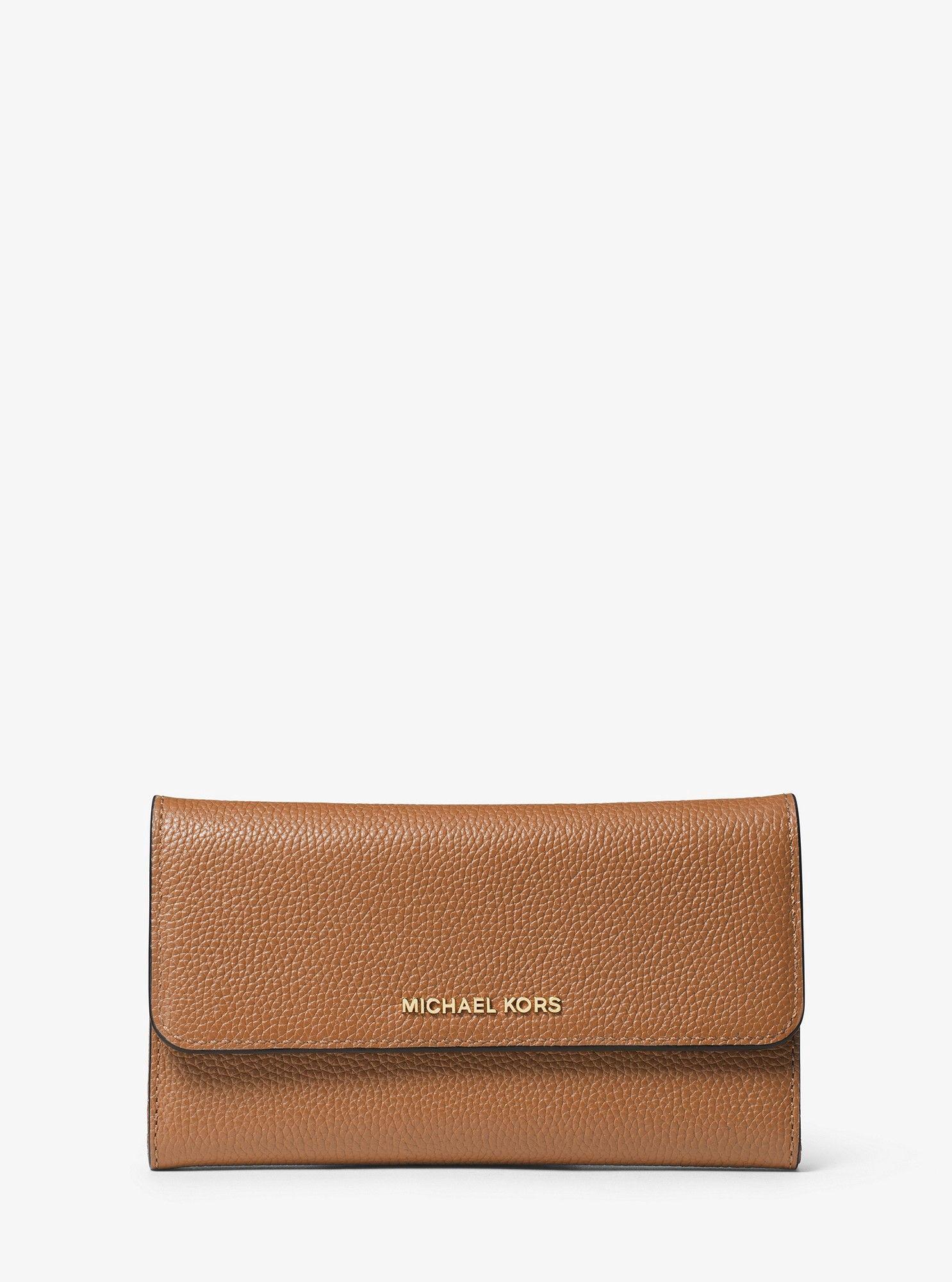 29fc647d39ec Michael Kors Mercer Tri-Fold Leather Wallet - Acorn | Products ...