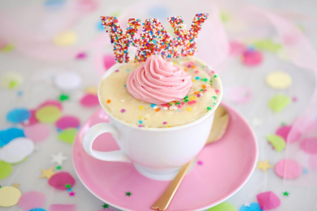 Celebration Vanilla Mug Cake (Egg Free) | Recipe | Vanilla ...