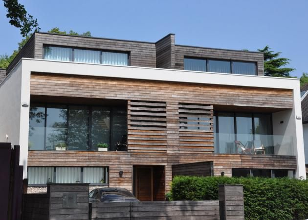 Modern funkis house in kebony houses facades for Funkis house
