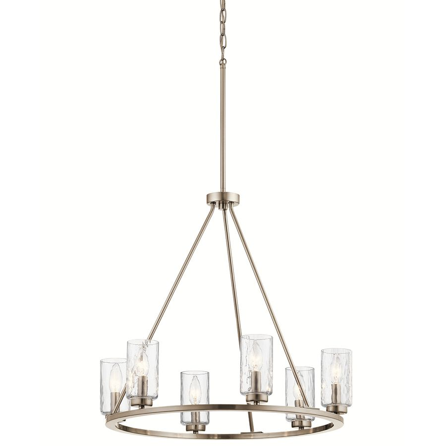 Kichler Dining Room Lighting Mesmerizing Kichler Marita 2387In 6Light Brushed Nickel Vintage Clear Glass Design Decoration