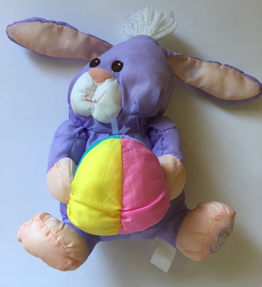 Vintage 80s Fisher-Price Puffalump Purple Easter Bunny ...
