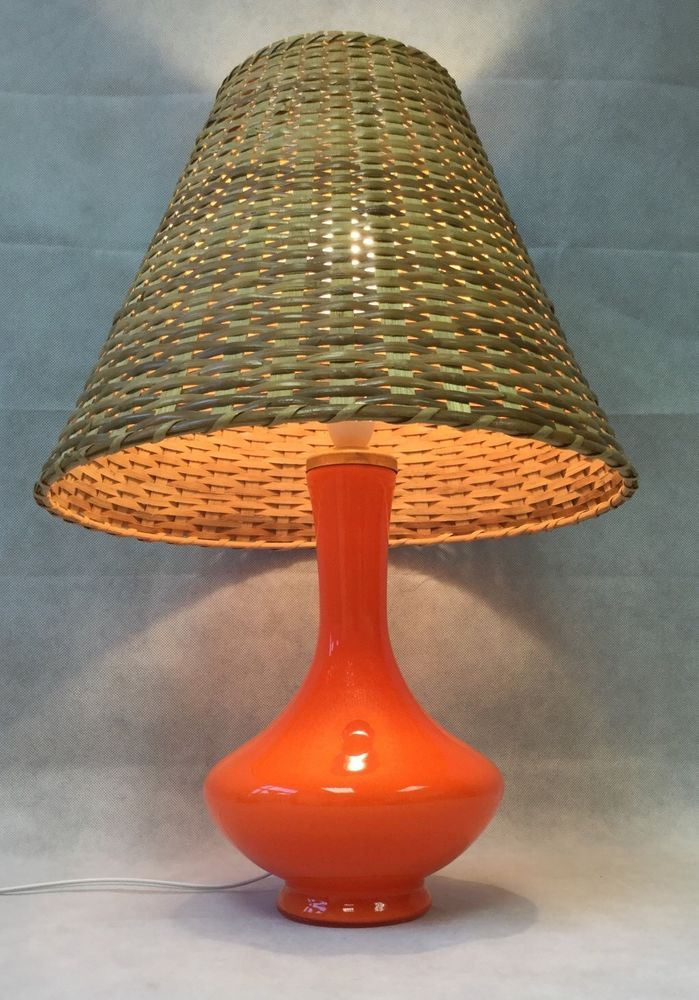 Vintage midcentury holmegaard orange glass table lamp light danish vintage midcentury holmegaard orange glass table lamp light danish rewired fwo keyboard keysfo Images