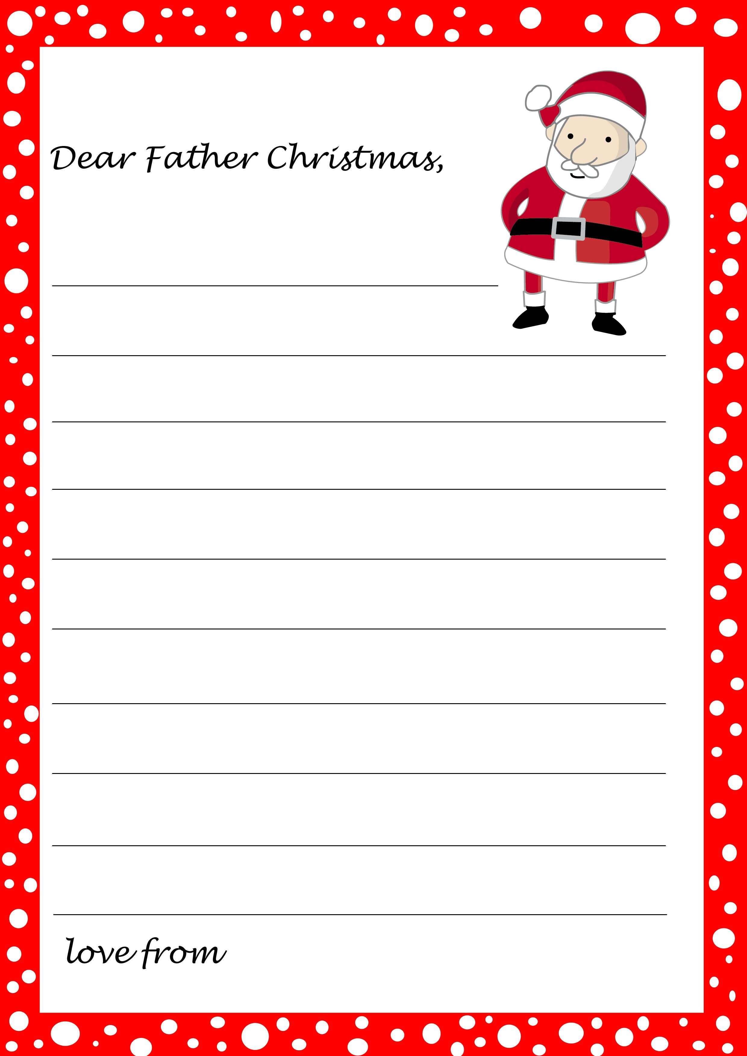 Image Result For Father Christmas Letter Template